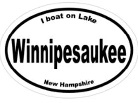 I Boat on Lake Winnipesaukee Decal