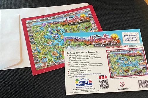 Lake Winnipesaukee 24 Piece Postcard Puzzle