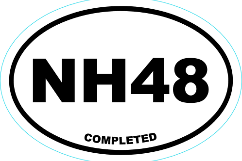 New Hampshire NH48 Completed Sticker