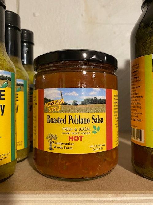 Roasted Poblano Hot Salsa