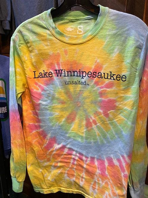 Unsalted Lake Winnipesaukee Long Sleeve Tie Dye Tee