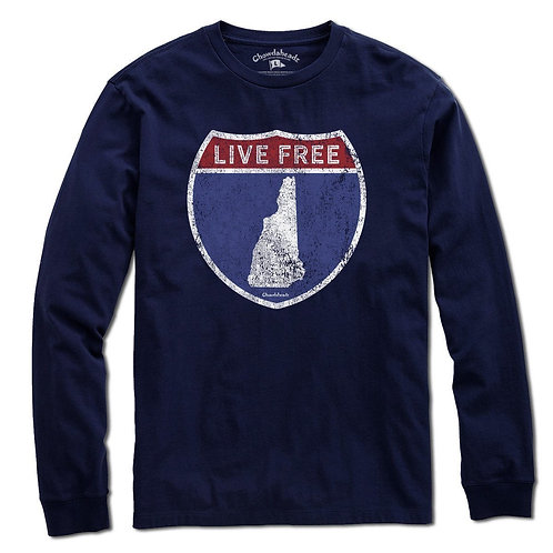 Live Free New Hampshire Long Sleeve Tee