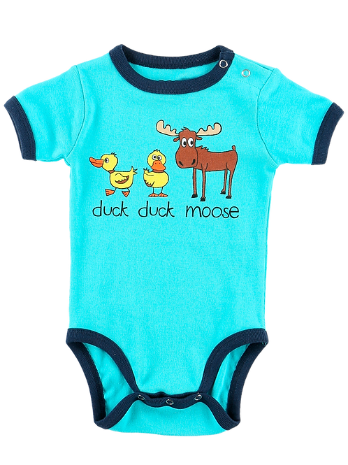 Duck Duck Moose Blue Onesie