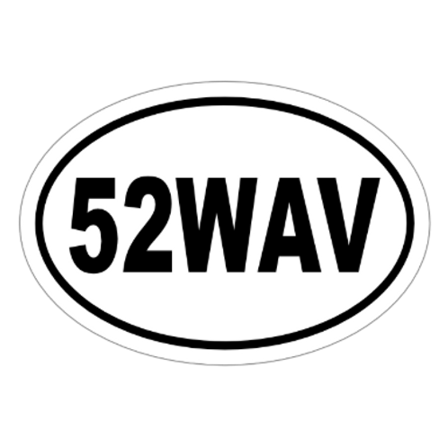 52WAV - (52 With a View) Sticker