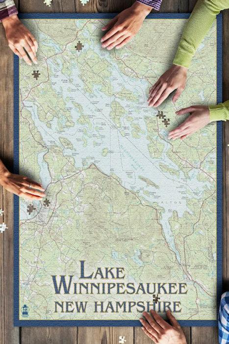 Lake Winnipesaukee MAP Puzzle