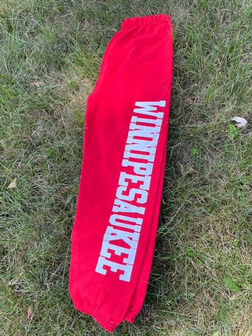 Winnipesaukee Youth Red Sweatpants