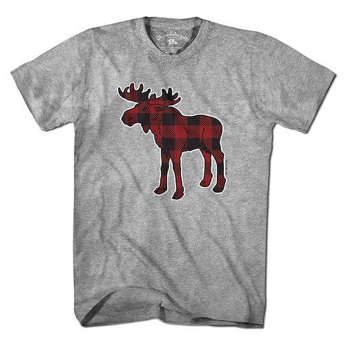 Plaid Moose Short Sleeve Tee
