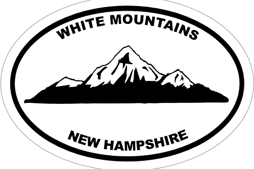 White Mountains New Hampshire Decal