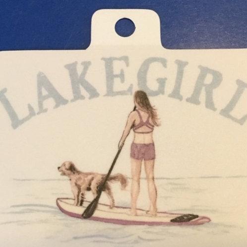 Lakegirl Paddleboard Decal
