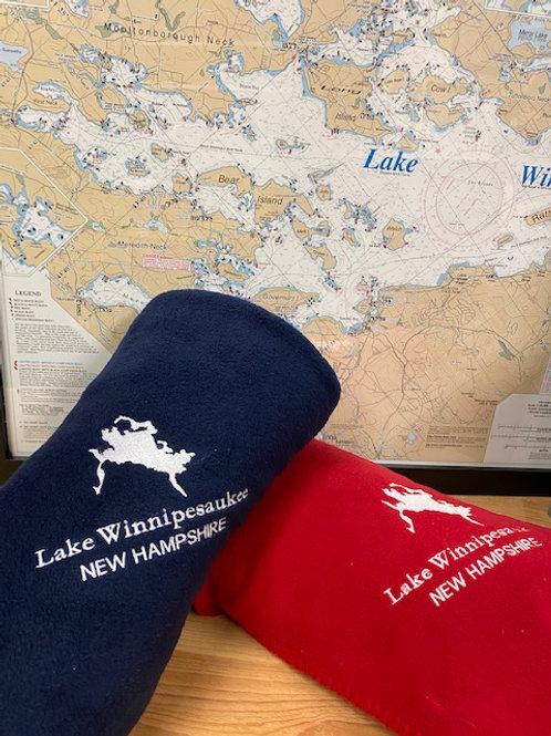 Lake Winnipesaukee Fleece 50x60 Blanket
