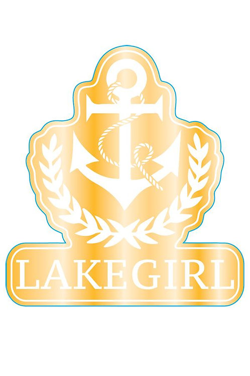 Lakegirl Anchor Metal Sticker