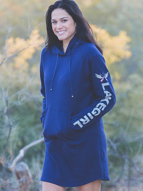 Lakegirl Navy Blue Sweatshirt Dress