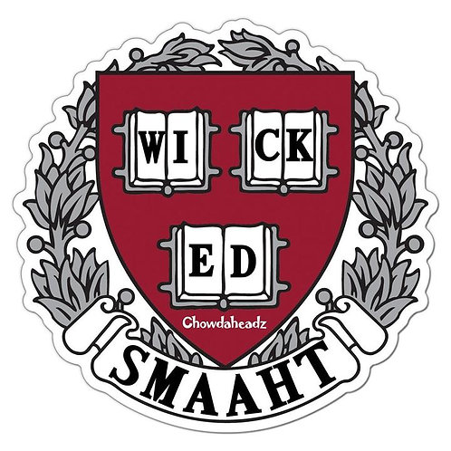 Wicked Smaaht College Sticker
