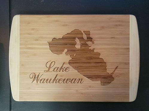 Lake Waukewan Wooden Cutting Board