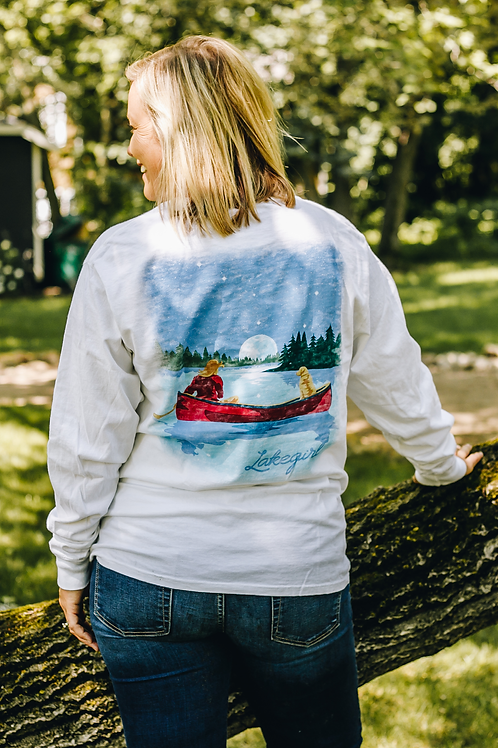 Lakegirl Canoe Long Sleeve Tee
