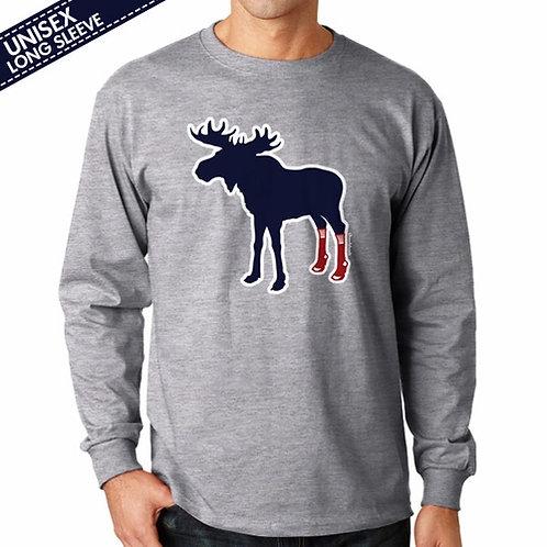 Sox On Moose Long Sleeve T-Shirt