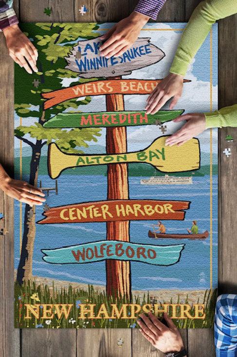 Lake Winnipesaukee Destination Puzzle