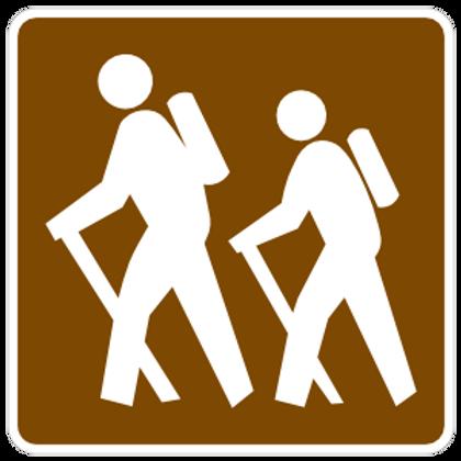 Hiker's Sticker