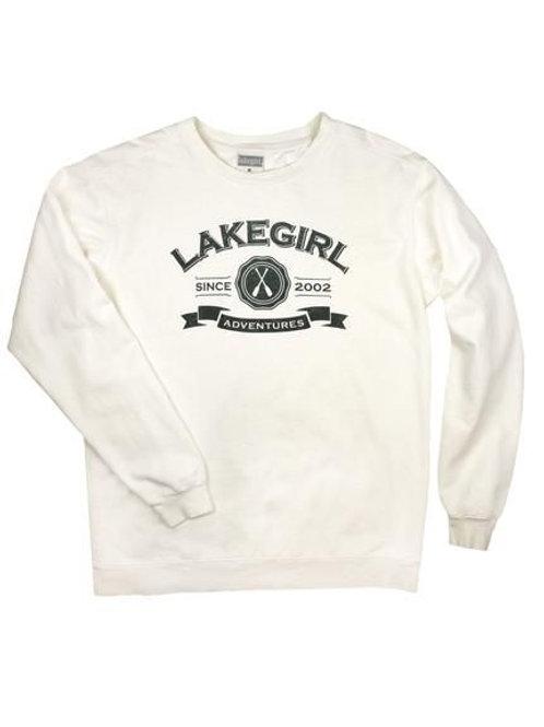 Lakegirl Ivory Ringspun Crew Sweatshirt