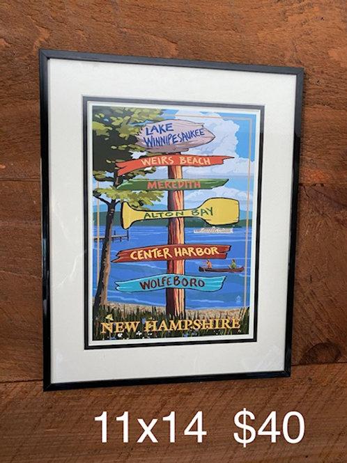 Destinations Framed Print