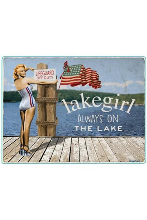 Lakegirl Patriotic Sticker