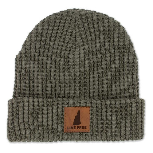 Live Free New Hampshire Patch Timber Beanie