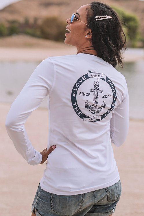 Lakegirl Rash Guard White/Navy
