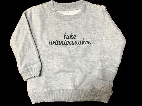 """Toddler Pullover """"Lake Winnipesaukee"""" Sweatshirt"""