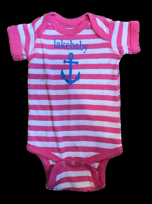 Lakegirl Lakebaby Pink  Onesie