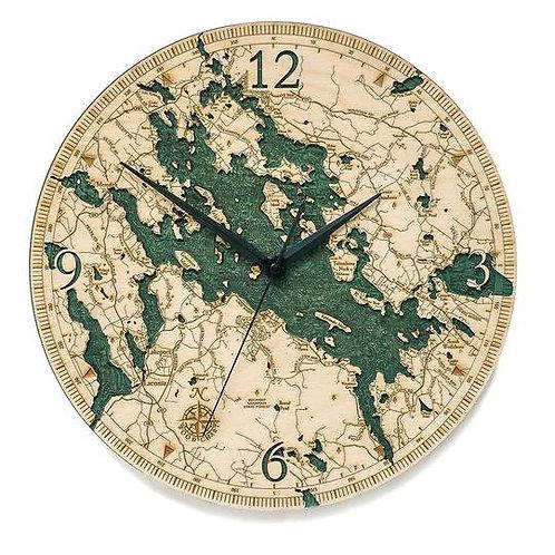 Lake Winnipesaukee Laser Etched Clock