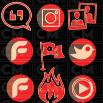 Social Media Icons and Buttons