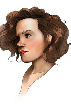 Portrait in Brown Hair