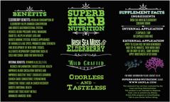 Superb Herb Sea Moss Label
