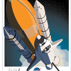 NASA Travel Poster