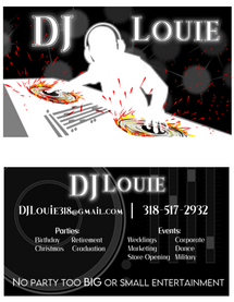 DJ Louie Business Cards