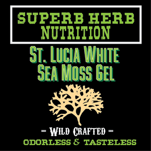 Superb Herb St Lucia Sea Moss TOP LABEL.