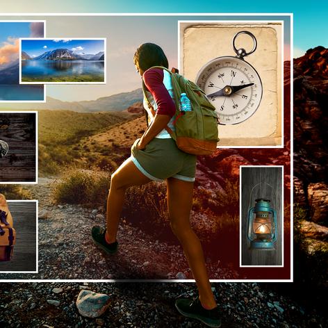 Travel Collage - Outdoor Adventures