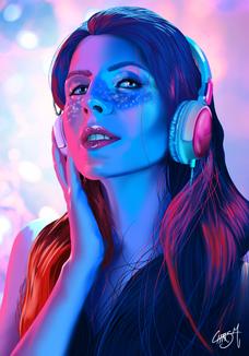 Colorful Head Speakers