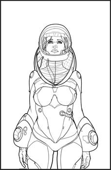 Line Art- Lady Space