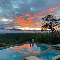 Sunset kissing the Rwenzori Mountains