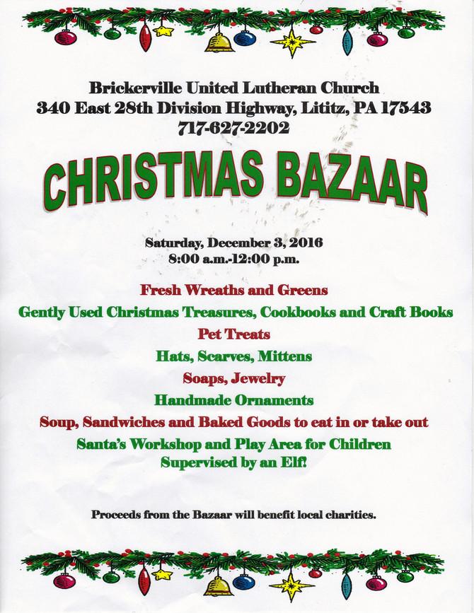 Brickerville United Christmas Bazaar