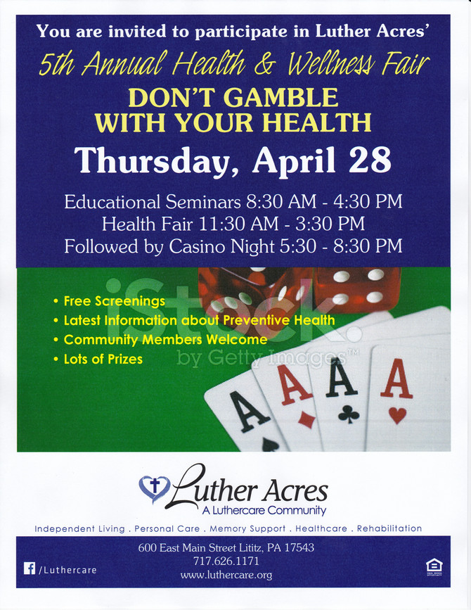 Luther Acres Annual Health and Wellness Fair, Thursday, April 28th