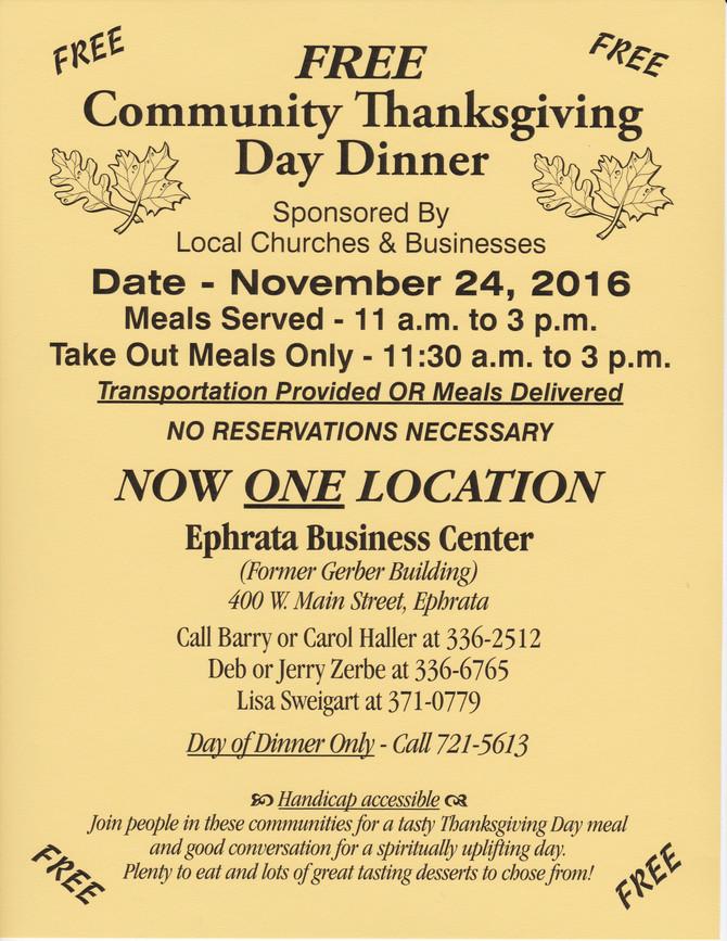 Free Community Thanksgiving Dinner