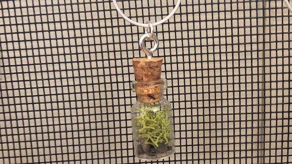 Silver Necklace Black Rock