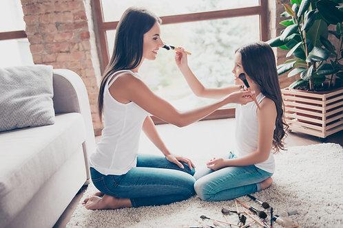 Cours de maquillage duo mère-fille