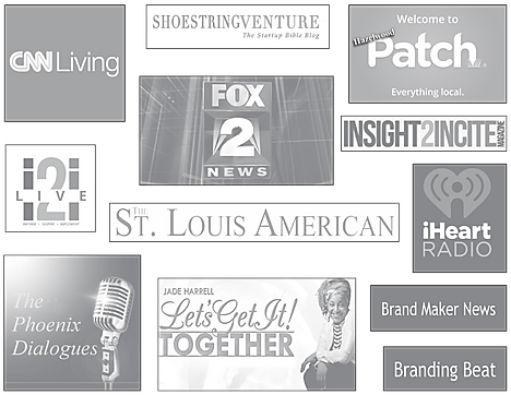 Sharonda McMullen has been featured on CNN Living, Fox 2 News, Shoe String Venture, Hazelwood Patch, Insight2Incite, iHeart Radio, i2i Live, The Phoenix Dialogues, The St. Louis American, Brand Maker News, Branding Beat and Let's Get It! Together with Jade Harrell