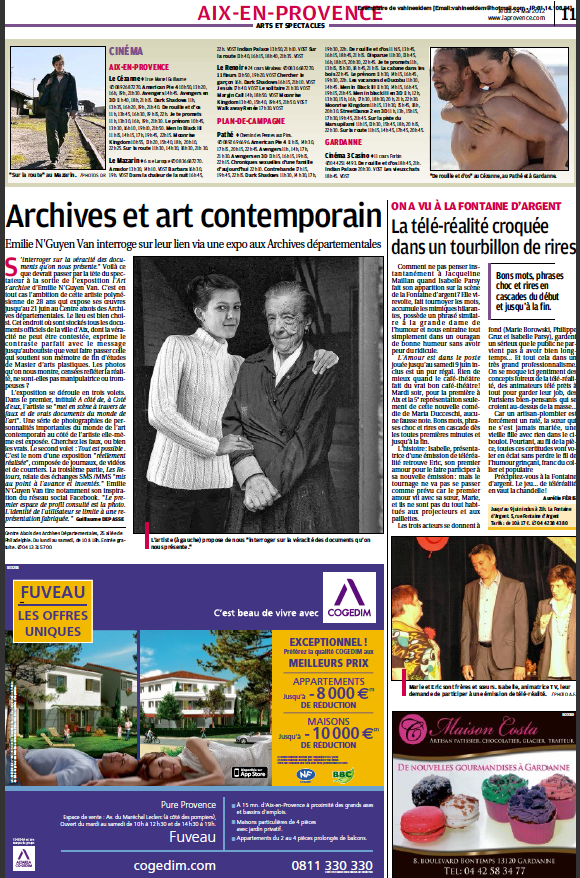 "Article ""La Provence Aix"""
