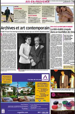 """Article """"La Provence Aix"""""""