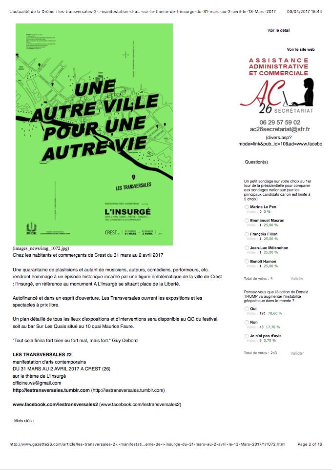 L'actualité de la Drôme