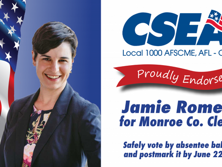 CSEA Endorses Jamie Romeo for Monroe County Clerk